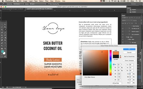 template photoshop wordpress body lotion label template id37 aiwsolutions