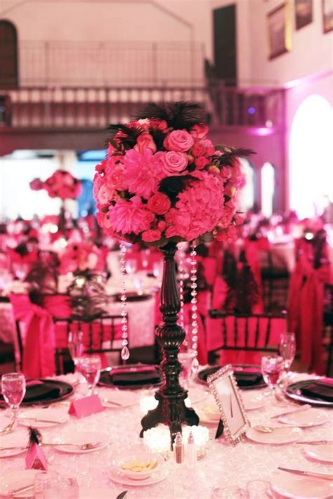 17 Best ideas about Pink Black Weddings on Pinterest