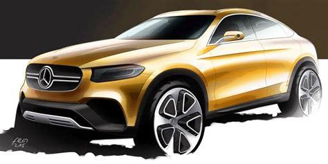 Home Sketch mercedes benz glc coupe teaser sketch revealed image 325276