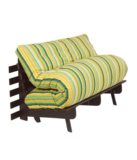 futon india arra futon sofa bed with mattress green lines