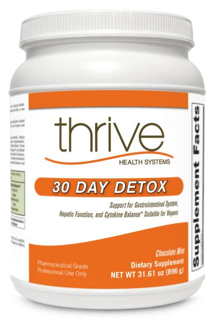 Thrive Health Systems 30 Day Detox functional medicine supplements