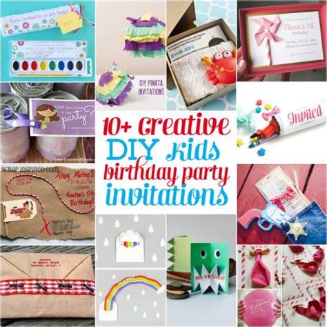 Home Decor Party Companies 10 creative diy kids birthday party invitations design