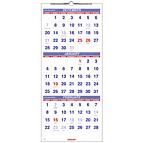 3 Month Wall Calendar At A Glance 3 Month Wall Calendar 12 X 27 30percent