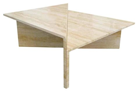 modular coffee table two piece modular travertine coffee table at 1stdibs