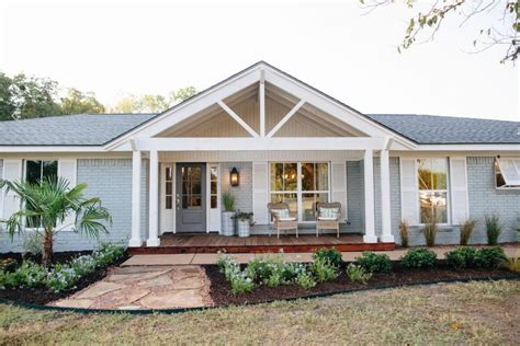 cottage style porch for ranch homes fixer upper front porches coastal and porch