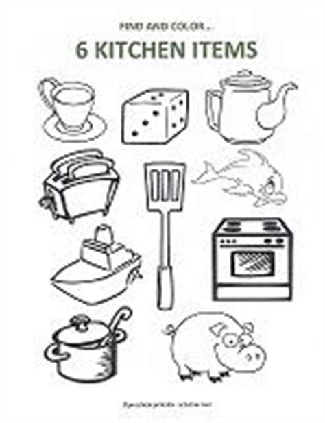 kitchen objects coloring pages free math printables for preschool counting