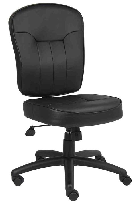 Armless Leather Office Chair Decor Ideasdecor Ideas Armless Office Desk Chairs