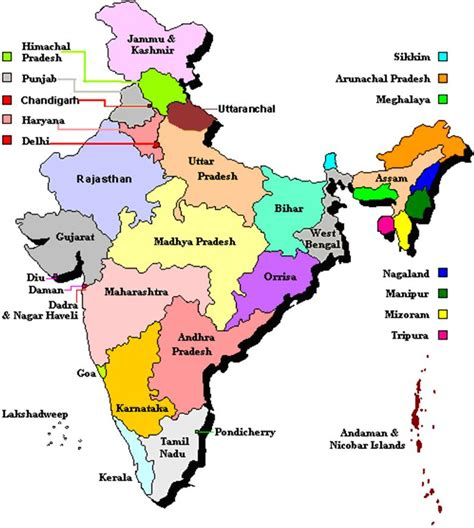 indian states indian states union territories a 2 z about india