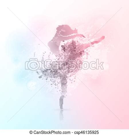 ballerina background ballerina in background vector background