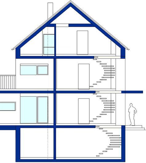 haus querschnitt 214 ko architektenhaus haus 13 como 2f querschnitt