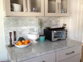 Marble Kitchen Backsplash by Loft Amp Cottage The Marble Backsplash