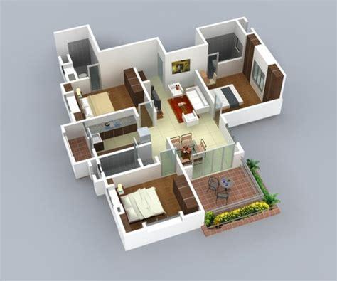 Home Interior Design 2bhk by Planos De Casas Y Apartamentos En 3 Dimensiones