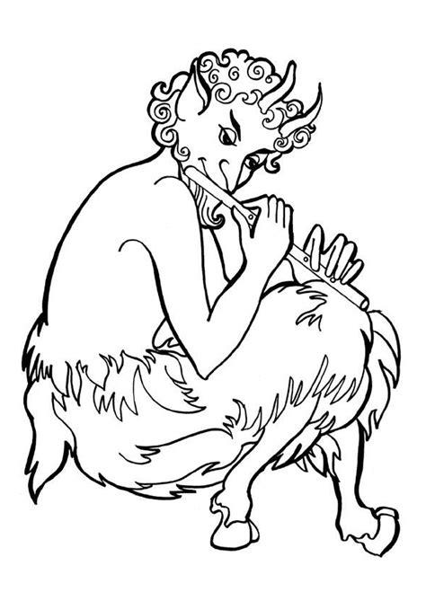 Coloriage mythologie pan sur Hugolescargot.com