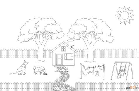 disegni di giardini da colorare foto disegno casetta dragtime for