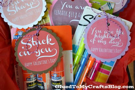 valentines gifts teachers gift idea free printable glued to my