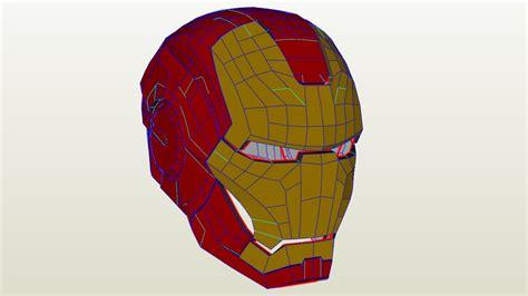 Blender Papercraft - iron helmet from blender to paper papercraft
