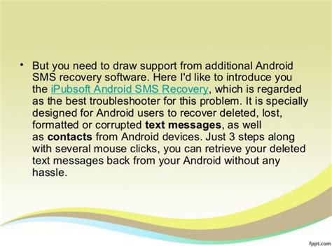 how to restore deleted messages on android how to recover deleted text messages from android mobile phone