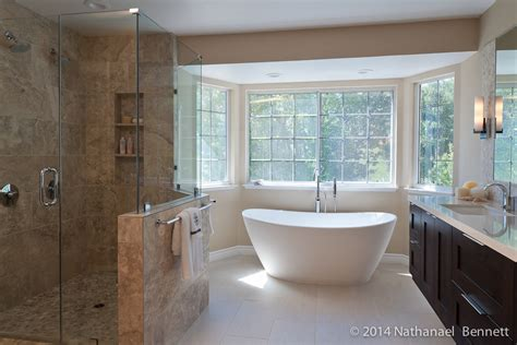 timeless bathroom m design build m design build danville master bath remodel with freestanding tub