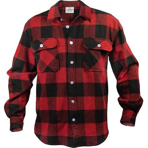 Flanel Tops heavyweight brawny flannel shirt buffalo plaid ebay