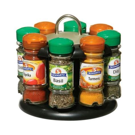buy premier 8 bottle spice rack with schwartz spices from our spice racks mills range tesco