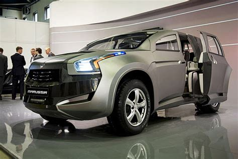 Sliding Door Suv marussia introduces bold new crossover with sliding doors