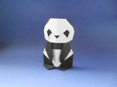 How To Make A 3d Origami Panda - origami panda origami panda tutorial makoto