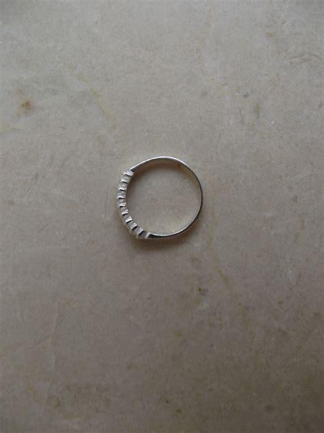 aparador zirconia prata anel aparador meia alian 231 a em prata 925 e zirc 244 nia r 42