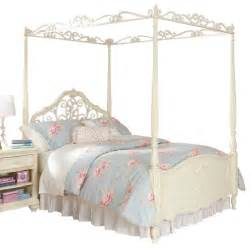 Canopy Youth Bed Lea Mcclintock Canopy Bed In Antique White