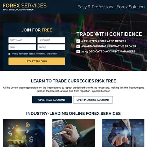 forex landing page template landing page design templates for lead business