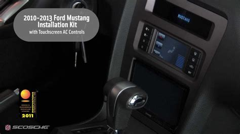 transmission control 1997 ford mustang navigation system scosche 2010 2013 ford mustang installation kit with touchscreen ac controls youtube