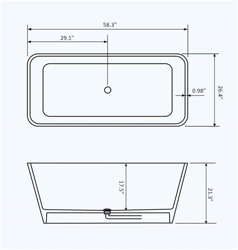 dimensions of standard bathtub pin standard bathtub dimensions image search results on