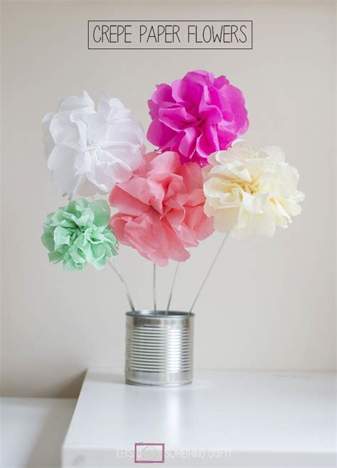 How To Make Simple Crepe Paper Flowers - 11 best images about easy flowers to make on
