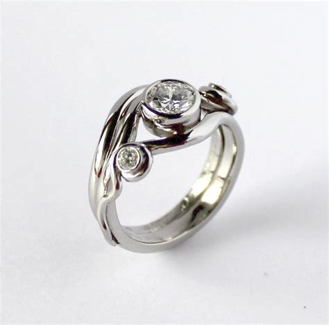 Wedding Ring Wave Design by Wedding Rings Pictures Wave Wedding Rings