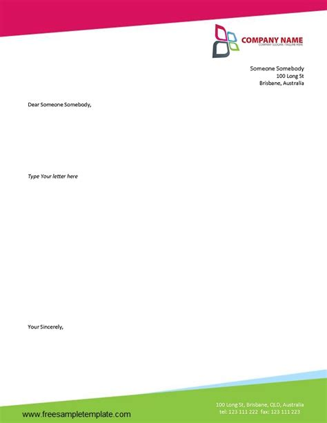 ms word letterhead templates business letterhead template free 2016 sanjonmotel