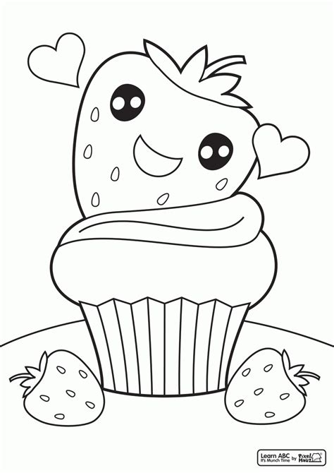 cute food coloring pages coloring home