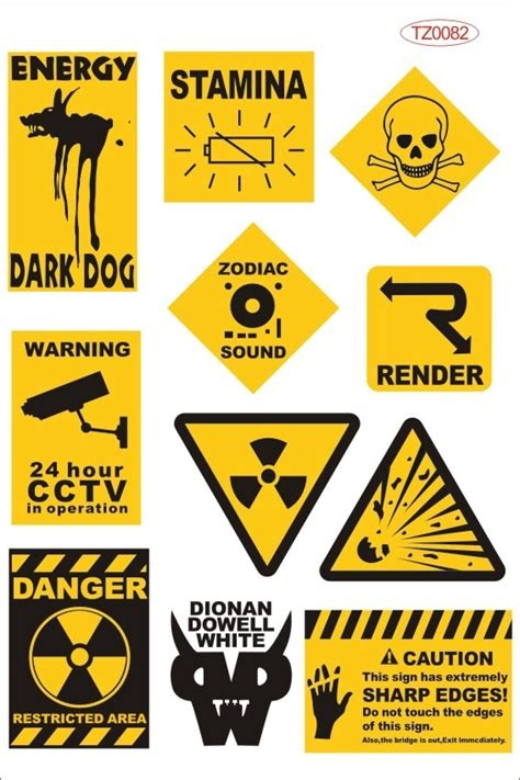 Car Yellow Sticker by Aliexpress Buy Yellow Warning Logo Laptop Stickers