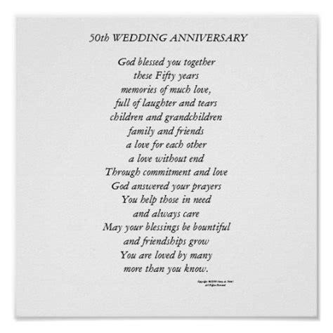 50th wedding anniversary verses for and 50th wedding anniversary poster holidays and events wedding anniversary poems