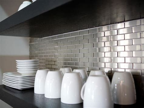 stainless steel kitchen backsplash tiles stainless steel backsplashes pictures ideas from hgtv