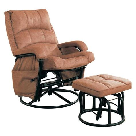 Glider Recliner With Ottoman Glider Recliner With Matching Ottoman Furniture