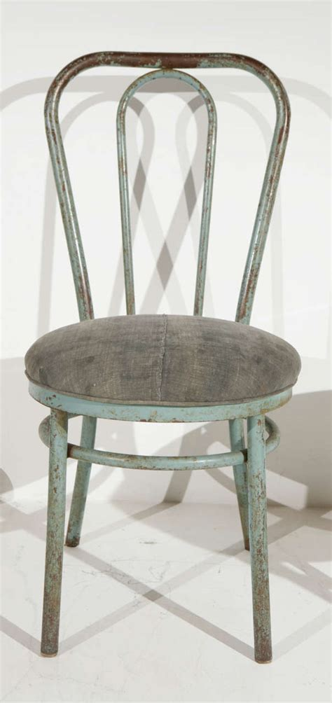Metal Thonet Chair by Pair Of Bent Metal Thonet Inspired Dining Chairs At 1stdibs
