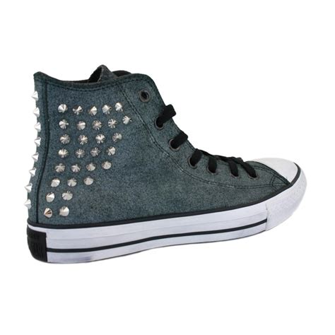 Grey Studded Converse Chuck Studded Collar 540222c Womens Laced