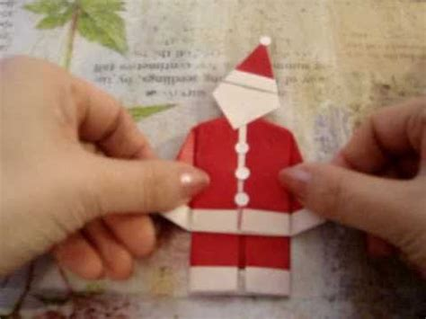How To Make Santa Claus Out Of Paper - how to make an origami santa claus easy
