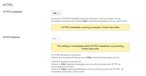 blogger custom domain ssl blogger officially support https for custom domain time