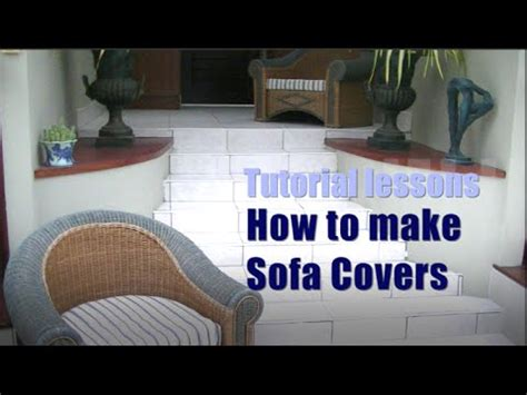 how to make a loveseat slipcover how to make sofa cushion covers youtube
