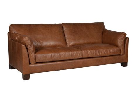 Halo Gable 3 Seater Leather Sofa