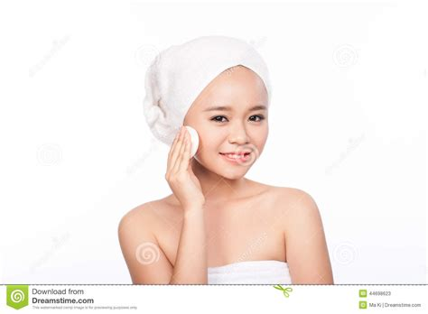 pretty little asian girl perfect skin stock photo portrait of asian woman beautiful woman cleaning face
