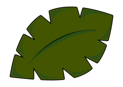palm tree leaf template leaf clip at clker vector clip