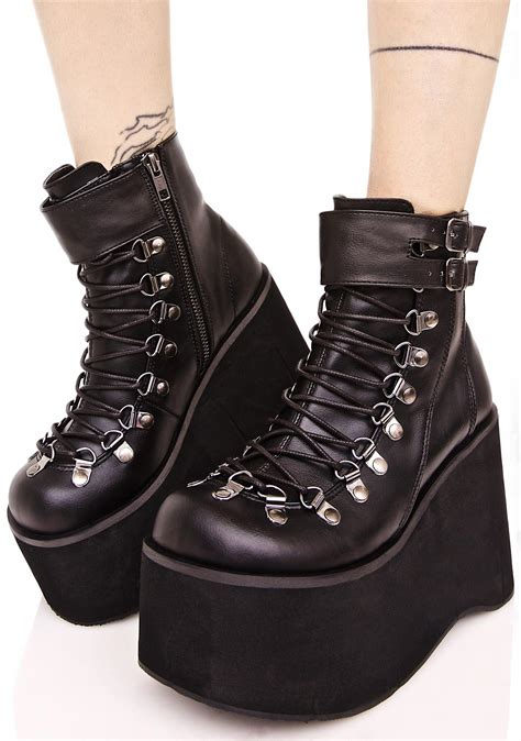 Lace Up Platform Boots demonia kera lace up platform boots dolls kill