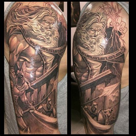 zeus tattoo designs sleeves or sleeve tattoos generally consist of