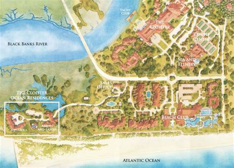 sea resort map cloister residences